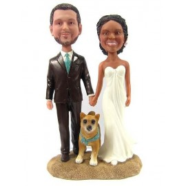 Bride And Groom Beach Wedding Cake Toppers